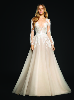 Non traditional wedding dresses for a valentines day wedding hayley paige winnie gown junglespirit Image collections
